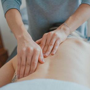 Klassische Massage zur Steigerung der Durchblutung