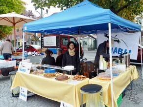 Infostand des NABU beim Familienflohmarkt