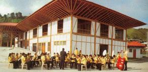 Banda sinfónica estudiantil del municipio de Neira (Caldas) que se presentará en este municipio el domingo 18 de agosto en la celebración de las XXXI Fiestas del Retorno en la plaza vieja.