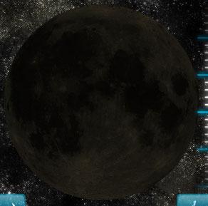 """So sah der Neumond heute Morgen aus (Bildquelle vom App """"Live Moon"""")"""