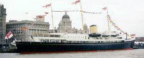 Le navire Britannia à Edimbourg