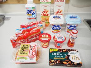 購入してきた色々な乳酸菌製品の写真。