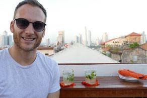 Tantalo Rooftop Bar Drinks Ceviche Panama City