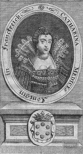 IMA.18.005 Katharina von Medici (Kupferstich, 1720) / © Sammlung PRISARD
