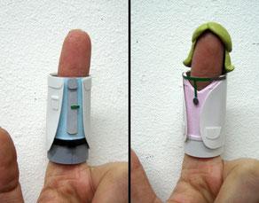 Herstellung zweier Fingerpuppen für einen Werbespot