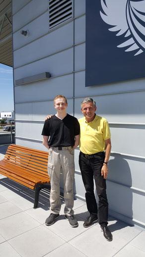 Michel ROCCA, Président de l'ACRIV avec Gabriel DENAJAR