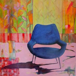 """""""Del poeta e del pittore""""  - Acrilico su tela - 80x80 cm - 2018"""
