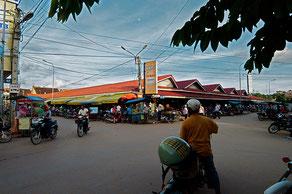 Angle du vieux marchés à Siem Reap