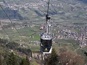 Gondel von der Seilbahn Hochmuth in Dorf Tirol