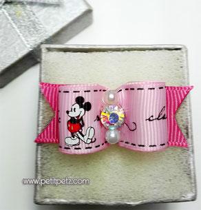 Lacito con piedrita modelo Mickey