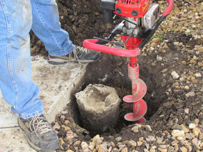 Fence posts buried in concrete are not so easy to extract