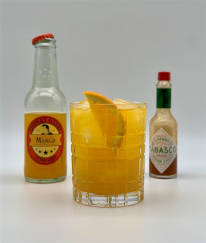 Feels like Tropicana, Mocktail, Mocktail Feels like Tropicana, Feels like Tropicana Mocktail, Thomas Henry Mango, Thomas Henry Mystic Mango, Tabasco