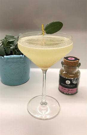 Cocktail mit Salbei, Cocktail Salbei, Coeur de L'Atlantique, Tonkazucker, Tonkabohnenzucker, Salbei, Herz des Atlantiks