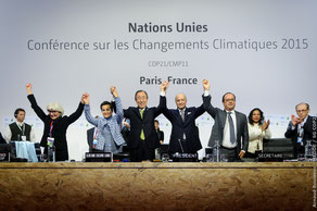 12月12日、COP21でパリ協定が合意された COP Paris/Flickr Creative Commons