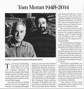 Tom Mora rechts im Bild mit Tom Dorsey von Thomas&Thomas