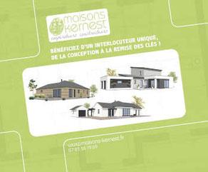 3  styles de maisons: maison bois plain pied, maison à étage moderne, maison traditionnelle plain pied