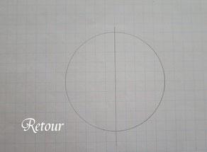 パッチワーク教室ルトゥール 六角形の製図