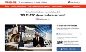 """Elisa Martorana autrice della petizione """"TELEJATO DEVE RESTARE ACCESA! """""""