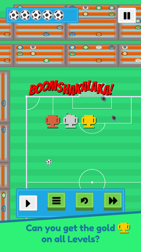 Getting three stars in a Story mode level in Super Silly Soccer