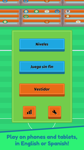Super Silly Soccer lets you see how well you're playing the game!
