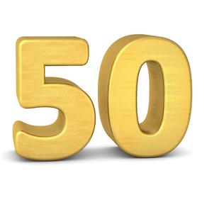 Eine goldene Fünfzig zum 50. Jubiläum