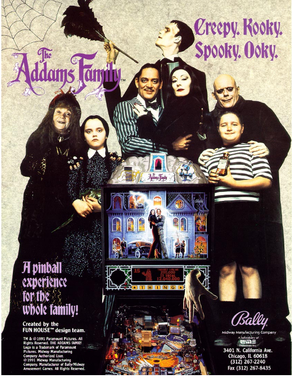 "Flyer ""Addams Family"" von Bally"