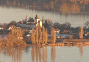 Blick vom Turm nach Oberzell ...