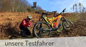 Wir stellen unsere e-Mountainbike Testfahrer vor.