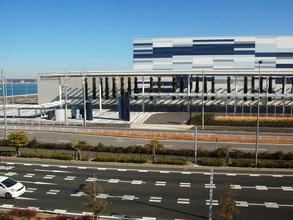 名古屋モーターサイクルショーも開催されるAichi Sky Expoも空港島に