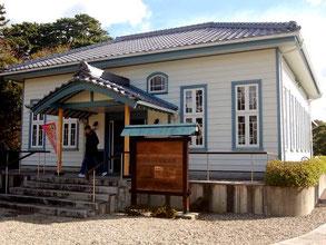 海辺の文学記念館では抹茶(300円)もいただける