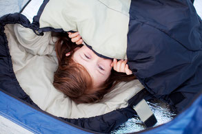 Kind im Schlafsack