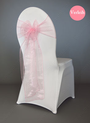 Stuhlschleifen in Farbe Rosa mieten