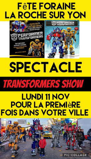 costume transformers , mascotte transformers , show transformers , robot transformers , animation transformers france