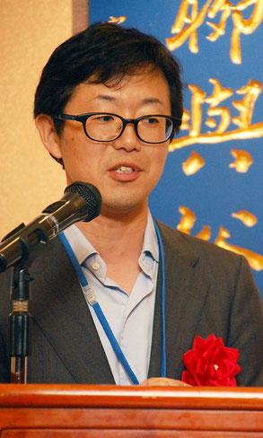 両組合の統合に尽力された神奈川県中小企業団体中央会の熊谷和幸部長の祝辞