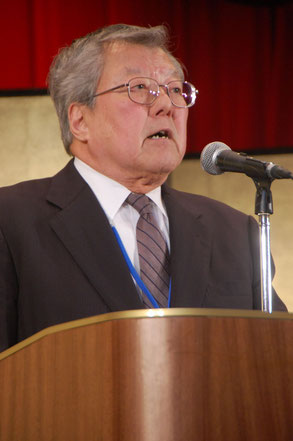 閉会の辞の渡辺弘一副理事長