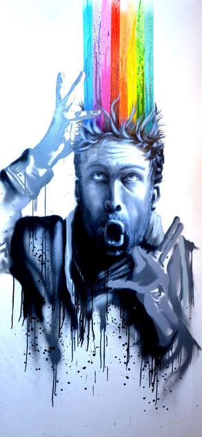 Portrait, Urbanart, Streetart, Graffiti, Art, Honsar, Spraypaint, Acrylics, Face, Porträt, Selbstbildnis