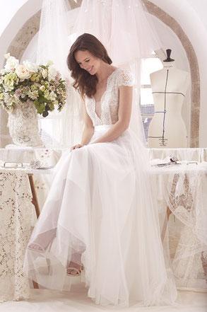 Robe de mariée Clémentine Atelier Emelia fabriquée en France