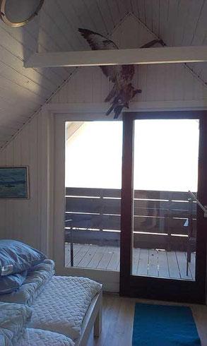 Unser Schlafzimmer - Ostseite - zur Bucht hin