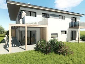 Baumeister Loibenböck Neubau Einfamilienhaus Einreichplanung ÖBA
