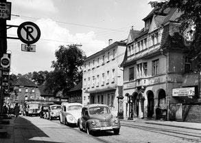 dudweiler, saarbruecken, pos, postamt, 1954
