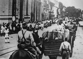 1941. Entrée des troupes japonaises en Indochine.