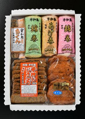 じゃこ天10枚 野菜入り天ぷら7枚 錦巻2本 あげ巻1本 ちくわ2本 重量:2300g