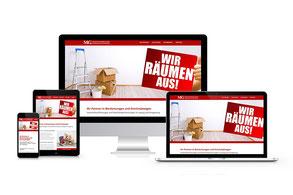 Responsiver Internetauftritt der MG Dienstleistungen aus Leipzig
