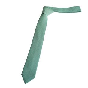 Groene stropdas Senor Guapo zeegroen met ingeweven lijnen