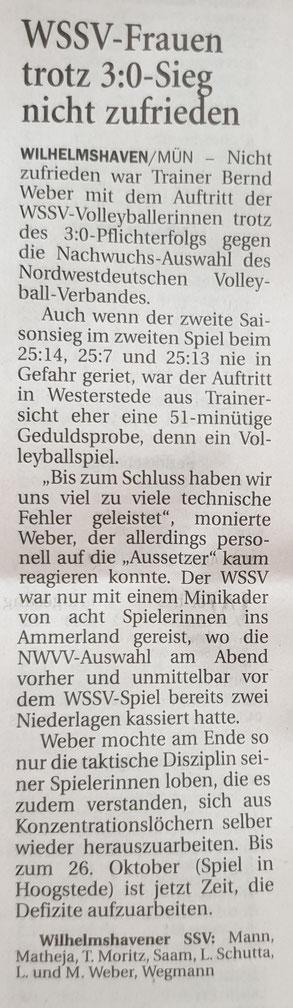 Quelle: Wilhelmshavener Zeitung 01.10.2019