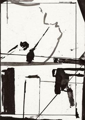 Heiner Blumenthal l Untitled l 2010 l 29,7 x 21 cm ink drawing on paper