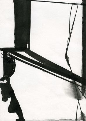 Heiner Blumenthal l Untitled l 2017 l 29,7 x 21 cm ink drawing on paper