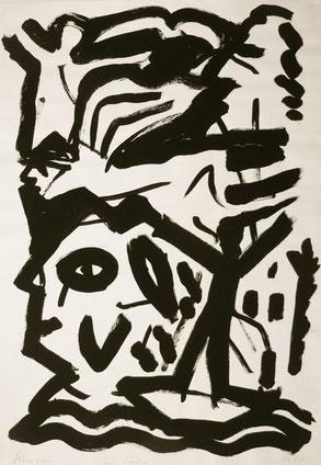 Die Sieger, 100/70, Acrylfarbe auf Papier, 1988