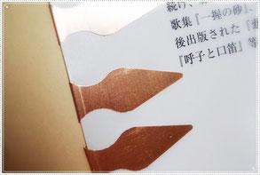 本を読み始める前に、表紙の裏にブックマークをいくつか挟んでおきます。