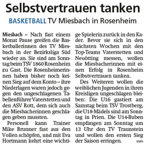 Artikel im Miesbacher Merkur am 23.11.2019 - Zum Vergrößern klicken